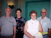 Carl and Claire Barnett, Connie Leksell and Terry Brocious